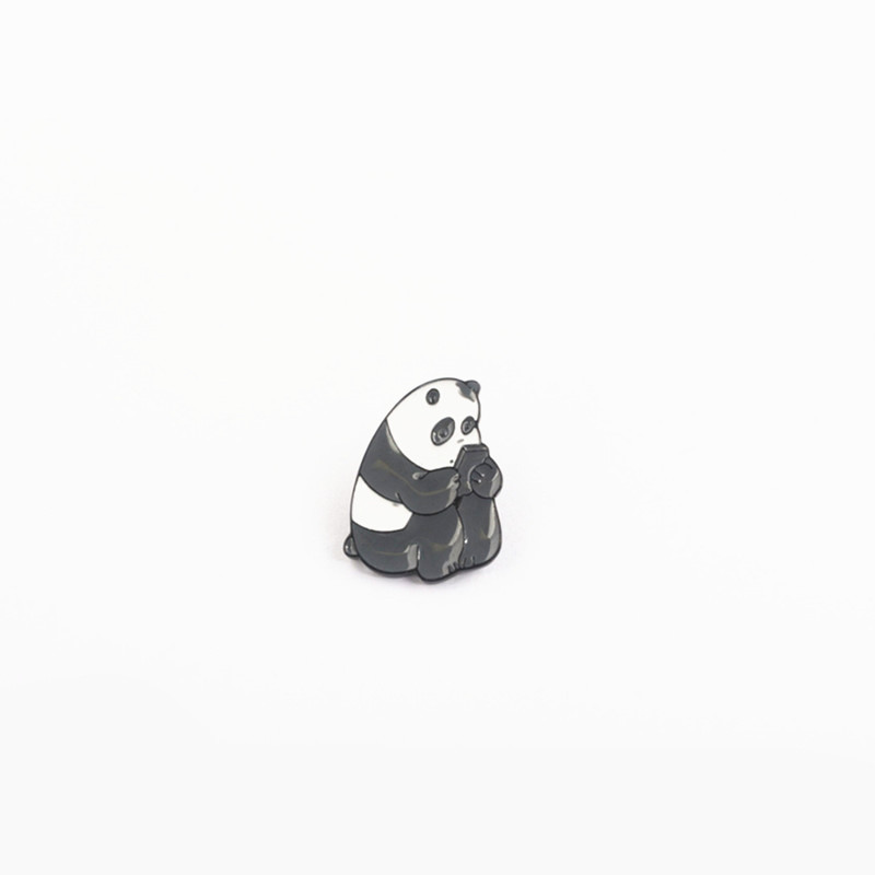 US $1 84 20% OFF We Bare Bears Brooch Badges Grizzly Panda Ice Bear Pendant  Pins Brooches for Women Men Kids Jewelry Gift-in Brooches from Jewelry &