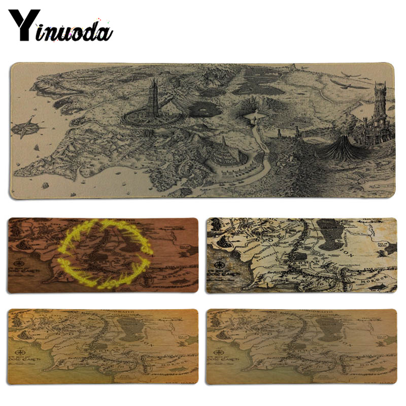 Yinuoda The Lord of the Rings map Keyboard Gaming MousePads Size for 30x90CM Speed Version Gaming Mousepads