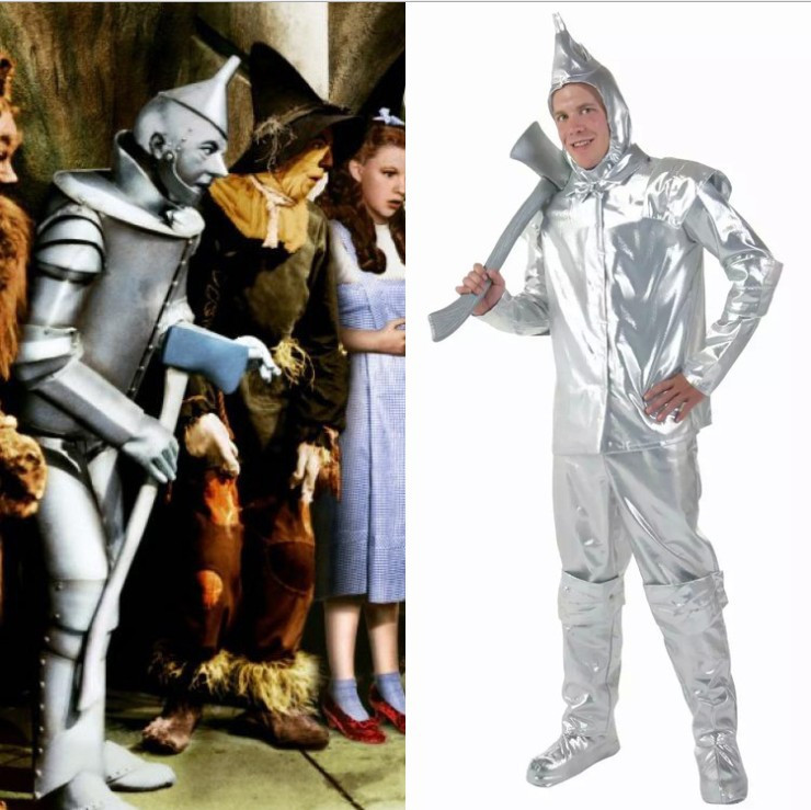 Vocole The Wizard of Oz Tin Man Boys Cosplay Costume Halloween Top Pant Set Party Stage Fancy Performance Clothing