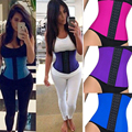 Top NEW shapers steel bones Latex Waist Trainer women tummy Rubber Waist Train Corset underbust Trimmer Slimming Belt