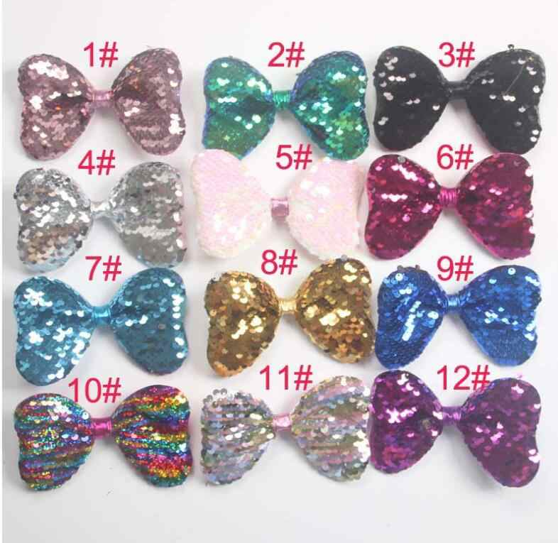 f91eca248992 12color 5 Inch Baby Girls Bows Hair Accessories Cute Mickey Mouse Ear Clip  Minnie Red White