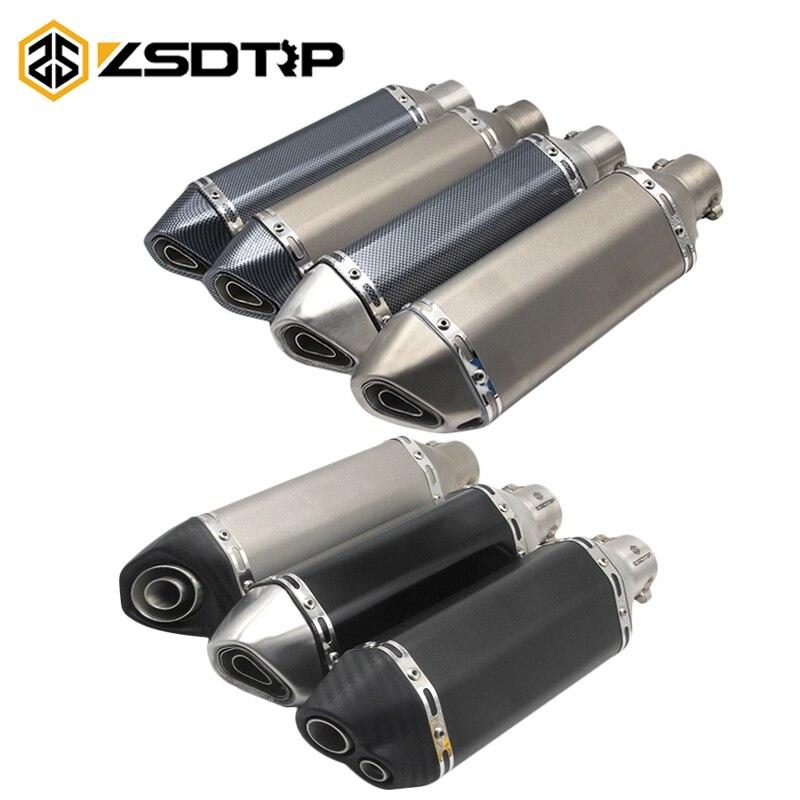 ZSDTRP Akrapovic Auspuff Motorrad Schalldämpfer Escapamento Moto Universel Für nmax CRF 230 Z750 CB400 ER6N GY6 Mit Schalldämpfer
