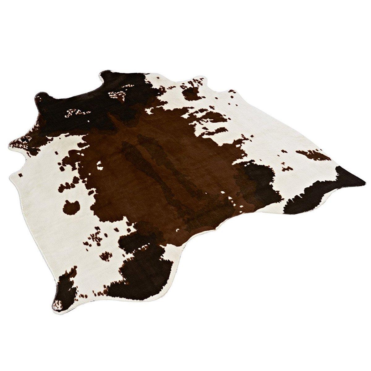 140x135 cm doux Faux peau de vache tapis 4.5x4.4 pieds vache impression tapis parfait jeter tapis pour salon/carrelage/salon/bureau