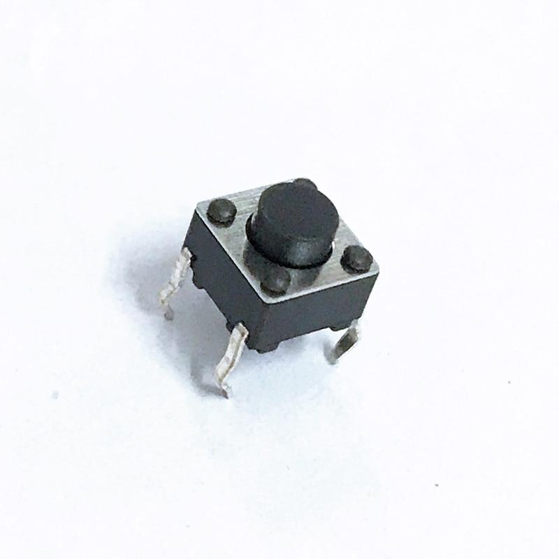 Interruptor sensor de toque com iluminação, interruptor de toque com 6*6*5mm, botão de ligação/desligamento, micro interruptor touch, 100 peças botão dip de chaves 6*6*5, 4pin 6x6x5 de alta qualidade