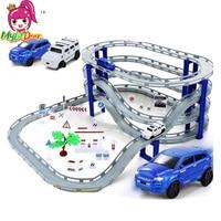 DIY Electric Racing Rail Car Kids Train Track Model Slot Toy Baby Racing Car Multi Orbit Car Christmas Gift Children Puzzle toys