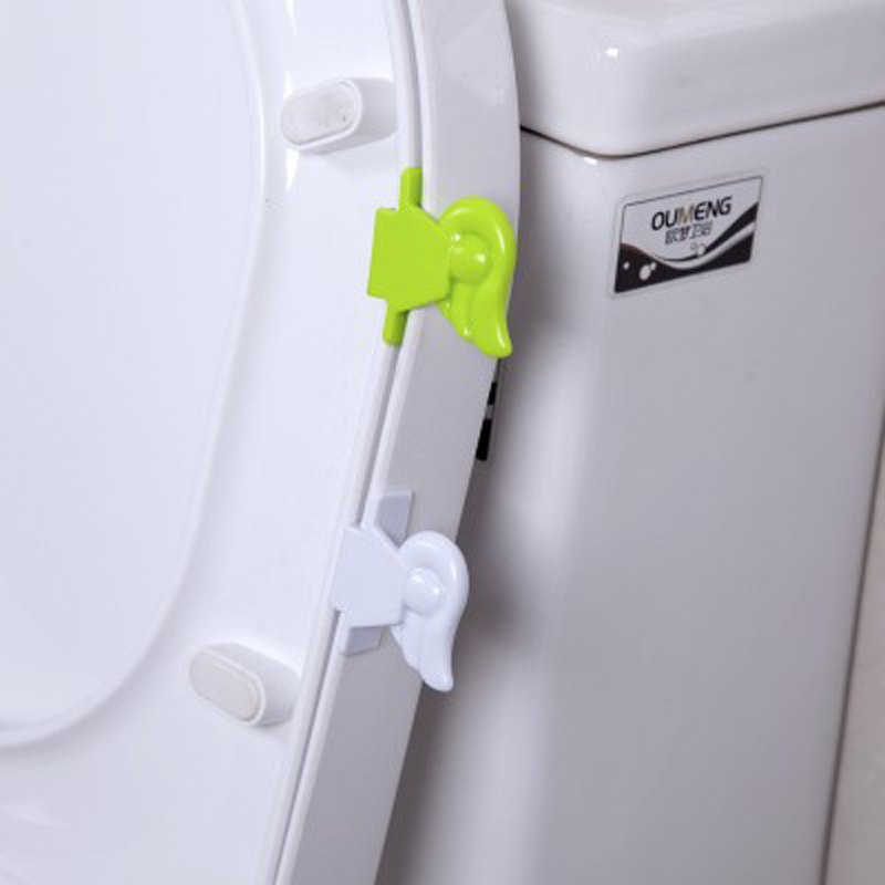 Bath Set Angel Wings Toilet Cover Lifting Device Bathroom Lid Lifter  Portable Bathroom Seat Clamshell Holder
