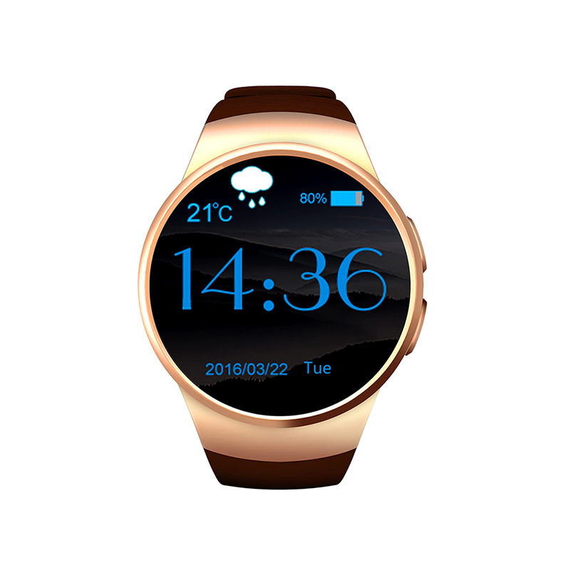 ФОТО Original KW18 Smart Watch Bluetooth Round Screen for Android/IOS Inteligente Heart Rate Monitor SmartWatch Anti lost Wristwatch