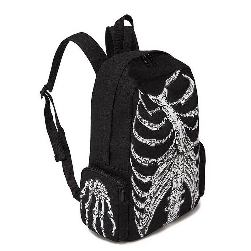 Image 4 - DIINOVIVVO Gothic Women Backpack School Punk Skull Skeleton 