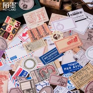 Image 2 - 60 ピース/箱ヴィンテージ植物旅行マッチ箱日記ステッカーレトロスクラップブッキングスタンプ韓国かわいいステッカーラベル