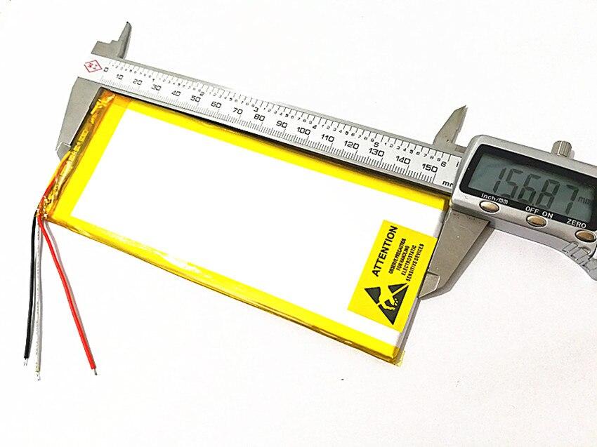 1 unids 3263156 de 3,7 V 4800 mAh recargable li batería de polímero de iones de litio para 8 pulgadas 9 pulgadas Tablet PC CHUWI Hi8 hi8 pro xv8 DVD DVR