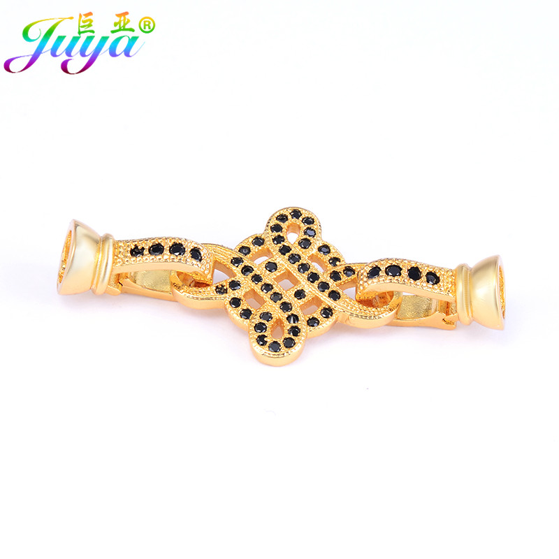 Pearls Jewelry Components Gold/Silver/Rose Gold Lucky Knot Fasterner Clasp Accessories For Handmade Beadwork Bead Jewelry Making
