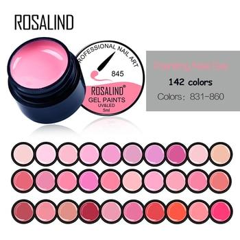 Rosalind 5 ml 142 Farben Für Wählen Nagel Malerei Farbe Gel Polish Lack Semi Permanent UV Led Gel Nagel Maniküre gel Lack