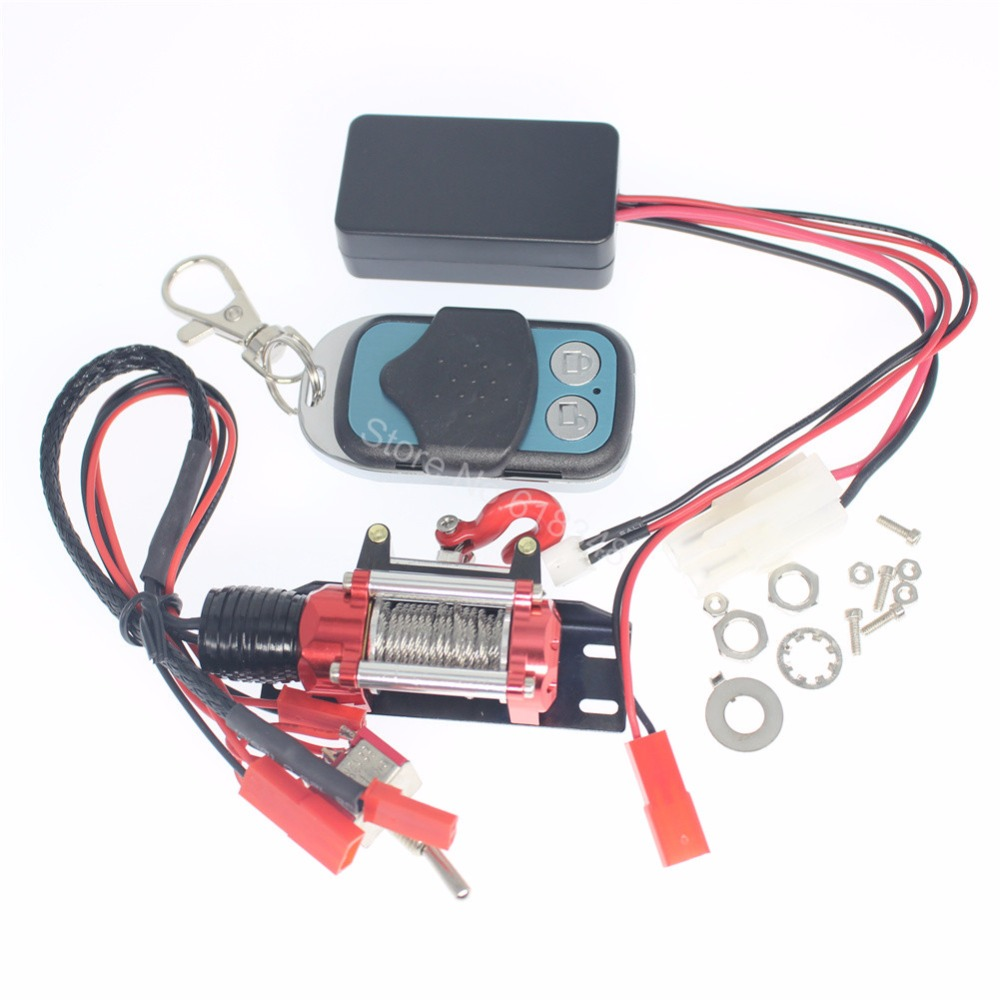 popular rc winch buy cheap rc winch lots from rc winch 10x cnc rc rock crawler automatic winch wireless remote control receiver set for 1