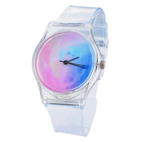 New Arrive Round Transparent Silicone Watches Style Color Silicone Brand Casual Women Watches Sport Watch Relogio