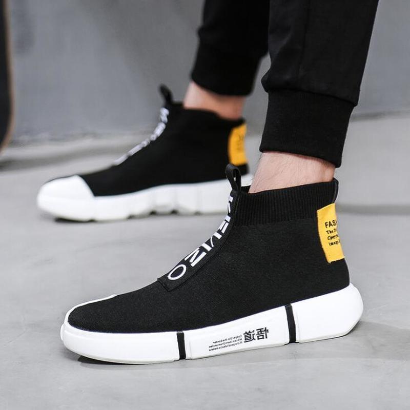 YEELOCA Nova Primavera Masculino Alto Gangue Meias Sapatos Versão Coreana de Sapatos Maré Juventude Ocasional dos homens Sapatos Único