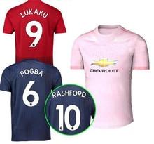 18 19 Manchester United LUKAKU ALEXIS soccer jersey 2019 Pink AWAY POGBA  MARTIAL LINGARD MATA MATIC SMALLING football shirt 13d2c9d62