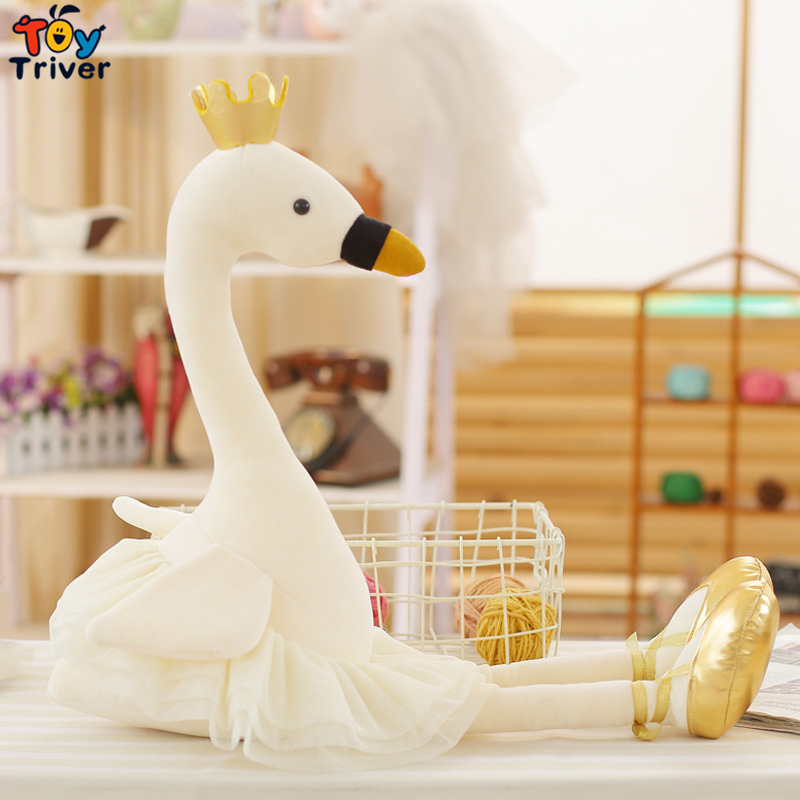 Плюшевые мультфильм белый розовый Лебедь игрушка кукла творческий Для детей для маленьких девочек на день рождения Kawaii куклы подарок Главн...