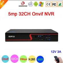 Red Panel Hi3536C 5mp XMeye Audio H.265+ 32CH 32 Channel one SATA IP Onvif  WIFI CCTV NVR Free Shipping