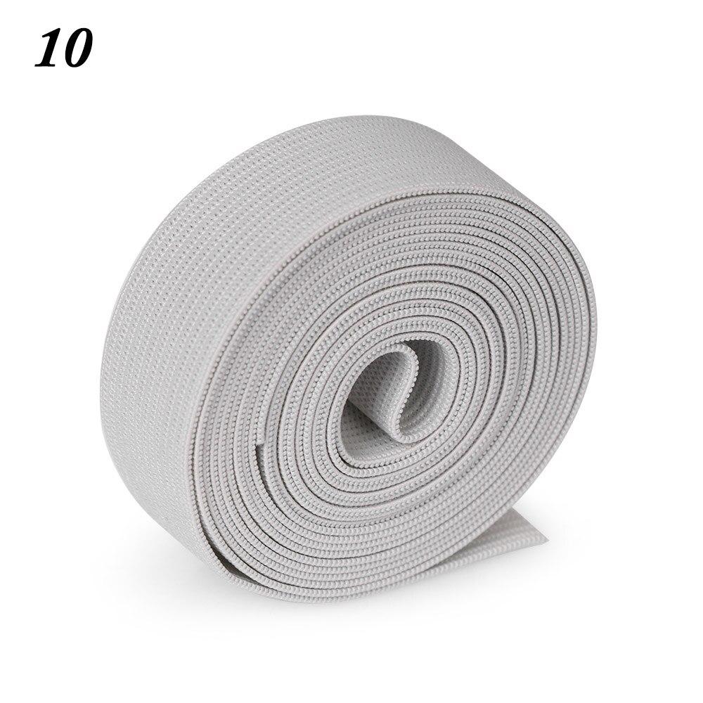 2 м/рулон многофункциональная эластичная лента плотная плетеная резинка из полиэстера шитье из кружева отделка ленты для талии аксессуары для одежды домашний текстиль - Цвет: 10