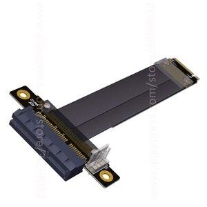 Image 5 - Riser PCIe x4 3.0 PCI E 4x To M.2 NGFF NVMe M Key 2280 Riser Card Gen3.0 Cable M2 Key M PCI Express Extension cord 32G/bps