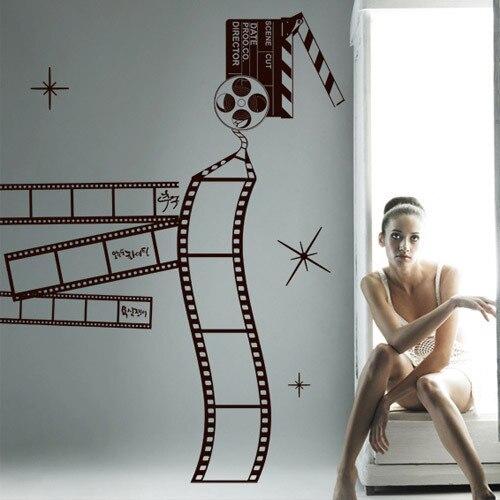 Popular salon company buy cheap salon company lots from - Stickers cinema mural ...