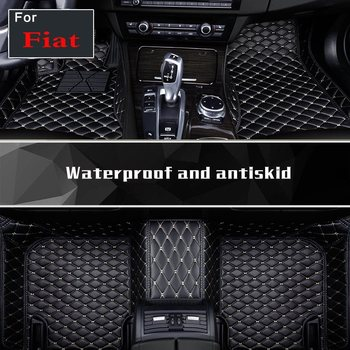 Fit Four Seasons Auto Foot Mats Pu Leather Foot Mat Carpets For Fiat Ottimo Bravo 500 Reemont Punto Linea
