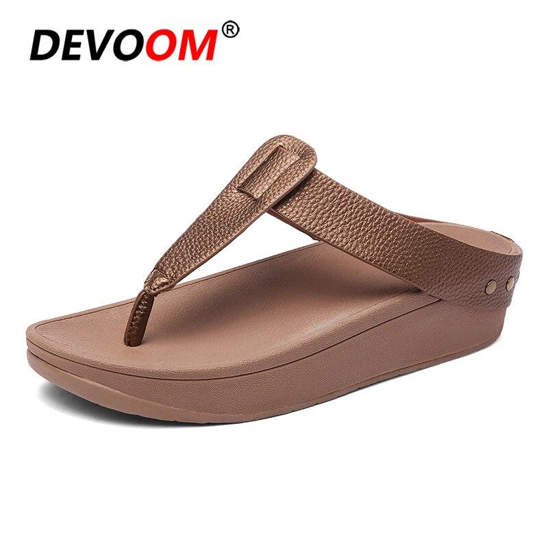 Ladies Flipflop Cork Leather Slipper Women Home Shoes Office Slippers New 2018 Summer Flip Flops Sandalias De Verano Para Mujer