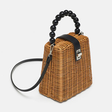 New Ladies Straw Bag Fashion Handmade Handbag Bohemian Style  Vacation Beach Quality Craft Weaving Shoulder Bags