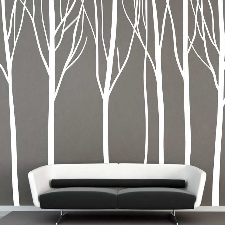 Énorme arbre Stickers muraux arbre forestier grande branche murale Art Mural sticker plante Design chambre revêtement Mural papier décor à la maison