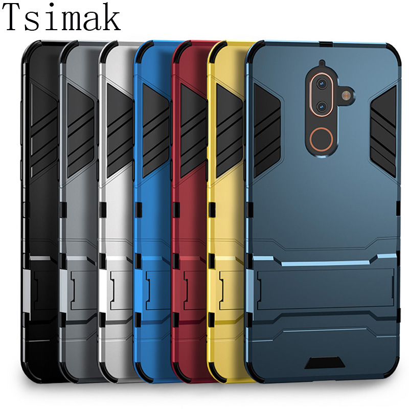 Tsimak Coque Armor Hard-Phone-Back Silicone-Rubber Nokia 7-Plus for X6x7 8 1-2-3-5