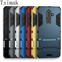 Tsimak Case For Nokia 1 2 3 5 6 8 6.1 X5 X6 X7 7 Plus 2.1 5.1 7.1 8.1 2018 Cover Silicone Rubber Armor Hard Phone Back Coque(China)