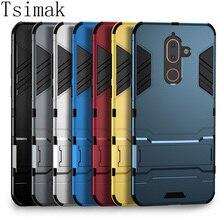Tsimak For Nokia 7 Plus Case Nokia 6 2018 Cover Silicone Rubber Armor Hard Phone Back Coque For Nokia 1 2 3 Case Cover