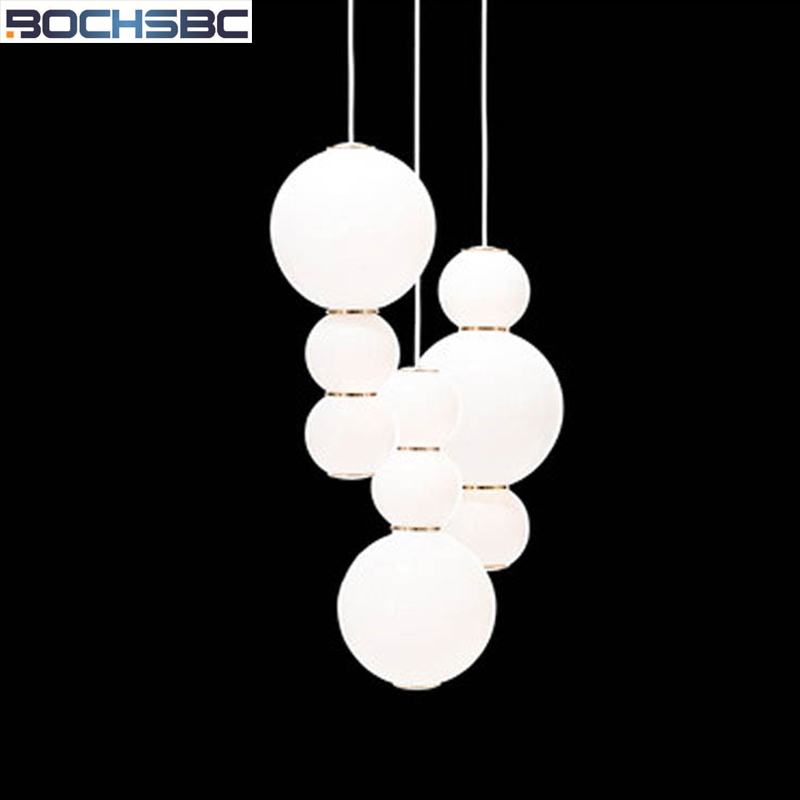 BOCHSBC Acrylic Glass Balls Lamp Nordic Modern Pearls Art Pendant Lights for Living Room Dinning Room Suspension Light Fixture