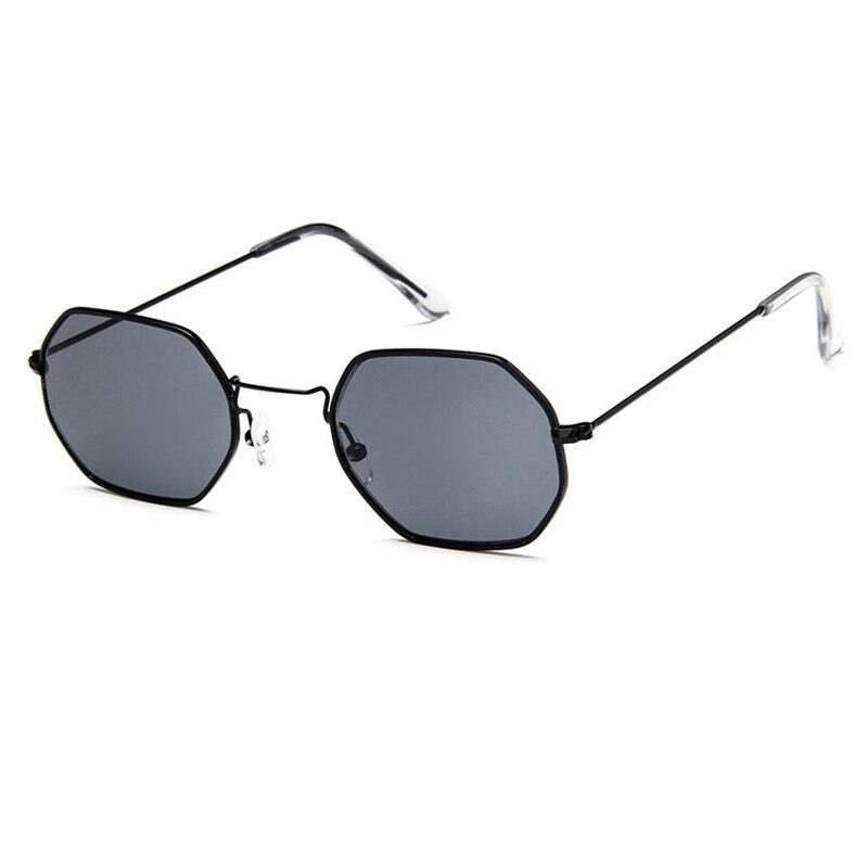 Fashion Women Sunglasses Small frame polygon Clear lens Sunglasses Brand Designer Men Sun Glasses Hexagon Metal Frame