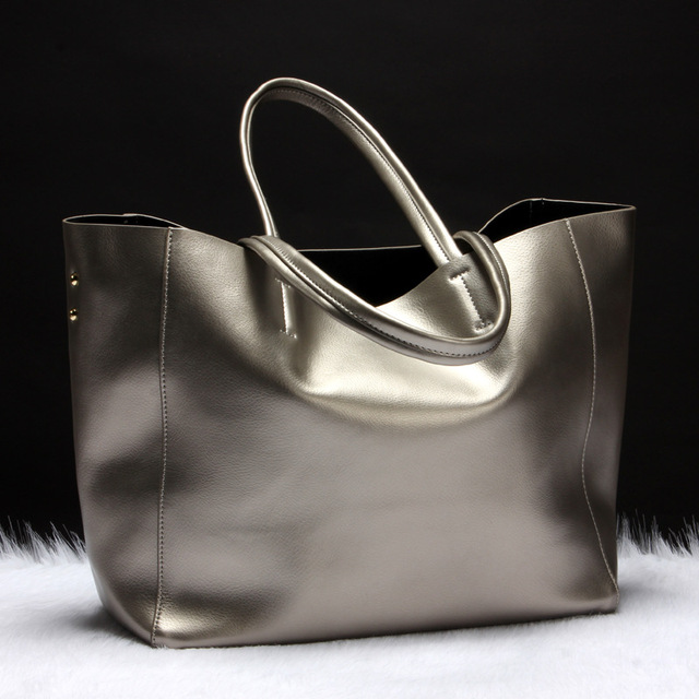 Fashion Women Split Leather Shoulder Bags Ladies Shark Solid Cowhide All match Brief Shark Handbag Female Soft Shopping Bolsas