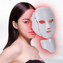 7 Colors LED Light Photon Therapy Facial Mask Treatment Skin Whitening Mask Beauty Skin Care Face Mask Wrinkle Acne Scar Remover ultrasonic galvanic ion led photon therapy skin care facial beauty acne wrinkle freckle remover treatment machine rechargeable