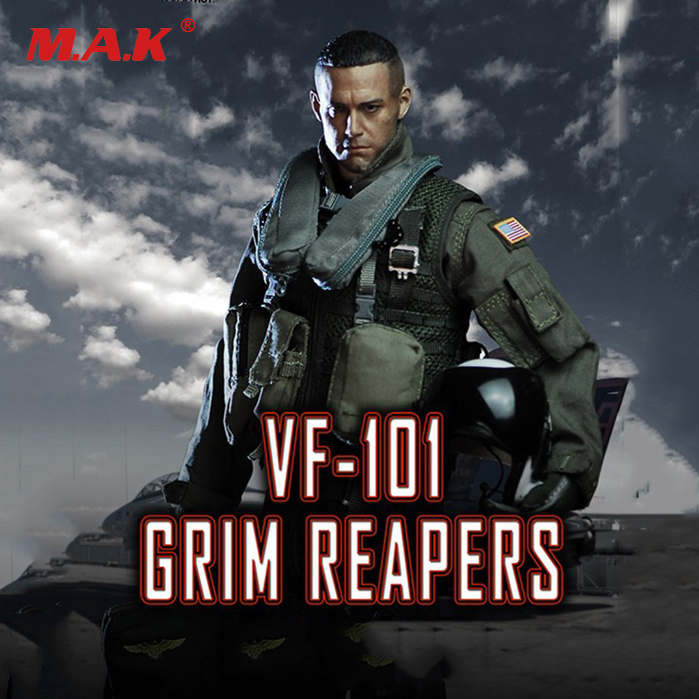 1/6 Scale US Navy VF-101Grim Reapers Combat Suit Clothes (Without Body and Head) for 12 inches Male Action Figure 1 6 scale figure clothing accessories female combat suit uniforms for 12 action figure doll not included body head and weapon
