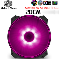 Cooler Master MF200 20cm case fan 12V RGB 3pin quiet fan Suit for CPU cooler water cooling 200mm computer cooling big PC Fan