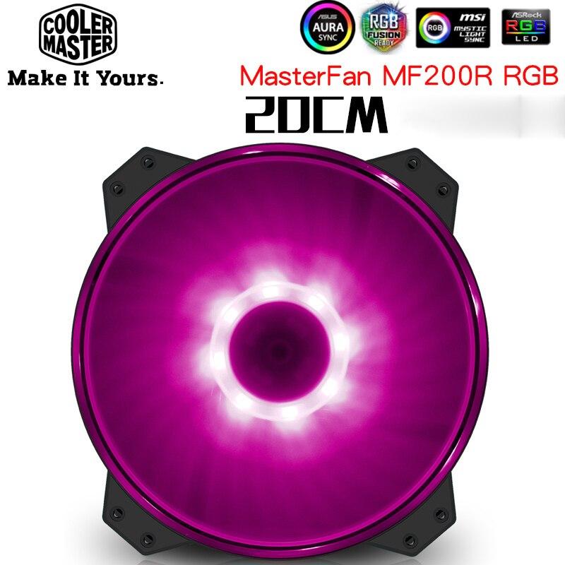 Cooler Master MF200RGB 20 centimetri 12 V RGB Cassa del PC ventola Di Raffreddamento 200 millimetri Del Computer Silenzioso grande fan Vestito per CPU del dispositivo di raffreddamento del Liquido di raffreddamento