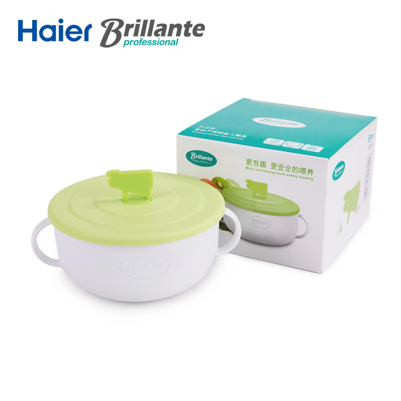 Haier Brillante Baby Feeding Tableware Kids Plate Bowl Dishes baby bowls kids dinnerware set Infant Cutlery Sets Drop Resistance