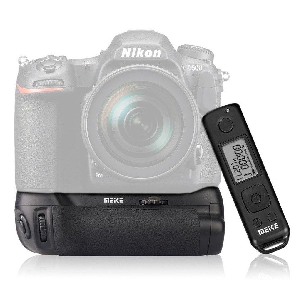 MEKE Meike MK-D500 Pro Power Pack Built-in 2.4GHZ FSK Remote Control Shooting For Nikon D500 Camera