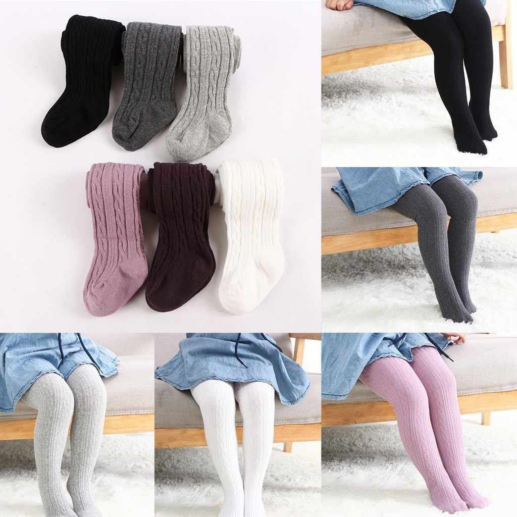 Toddler Baby Kids Girls Twist Stockings Panty Hose Pants Trousers Clothes warm tights girls stockings for kids