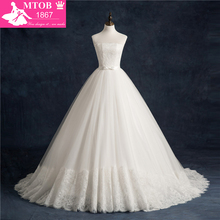 MTOB1867 Sexy Sleeveless Ball Gown Wedding Dresses 2018