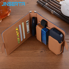 JINSERTA Cowboy Leather Case For IQOS Electronic Cigarette Accessorie Protective Carrying Cover for iQOS II III 2.4 Plus Cases