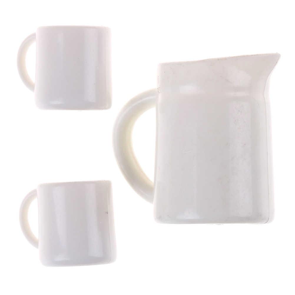 1 zestaw Mini Kawaii 1:12 miniaturowy domek dla lalek kubki zestaw garnków domek dla lalek kierunek zabawkowe meble kubki na herbatę Acc