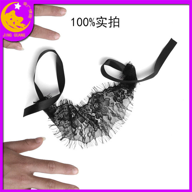 Sexy Lingerie Queen Mask Soft Padded Lace Mask Blindfolded Patch + Sex Handcuffs Sex Toys For Couples Erotic Costumes Sexy Game 4