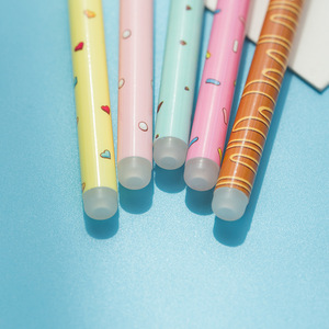 Image 3 - 30 pcs/Lot Candy color gel pen Sweet donut bowtie 0.5mm ballpoint Blue color pens Kawaii gifts School Canetas escolar FB438