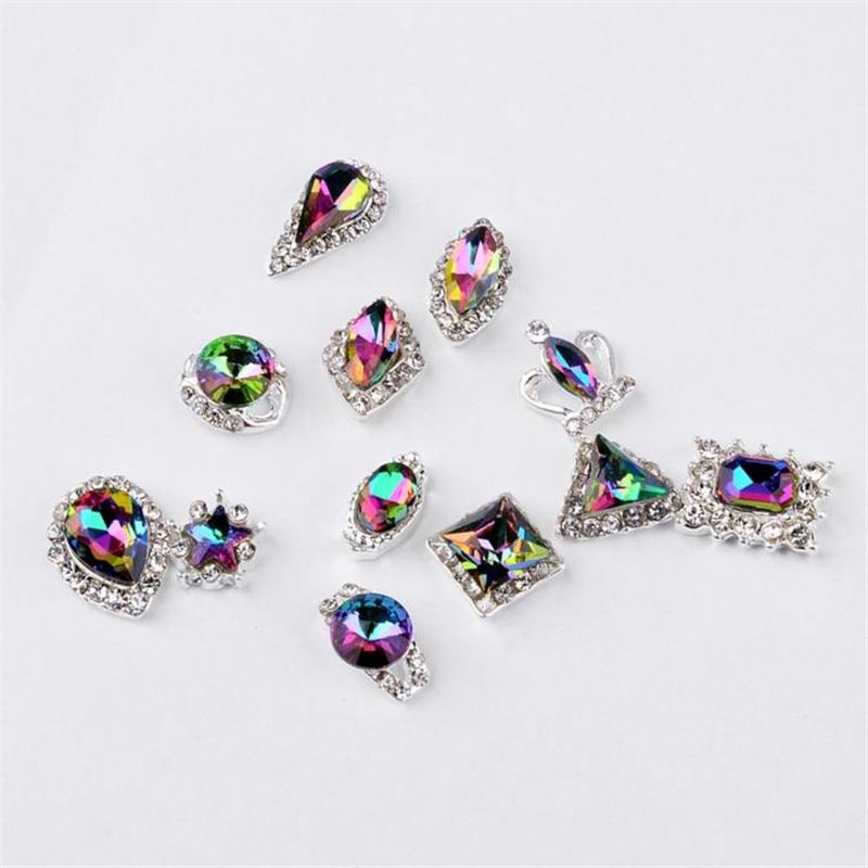 Moda Mezcla de alto grado 12 Diseño Cristal de aleación Crystal - Arte de uñas - foto 4