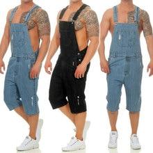 2019 Spring New Fashion Short Jeans Men,Top Rompers Men,Casual Men Overalls,Denim Shorts For