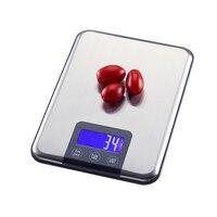 1 шт. цифровые кухонные весы с сенсорным экраном, Большая пищевая диета, баланс веса, тонкие электронные весы из нержавеющей стали, 15 кг/1 г